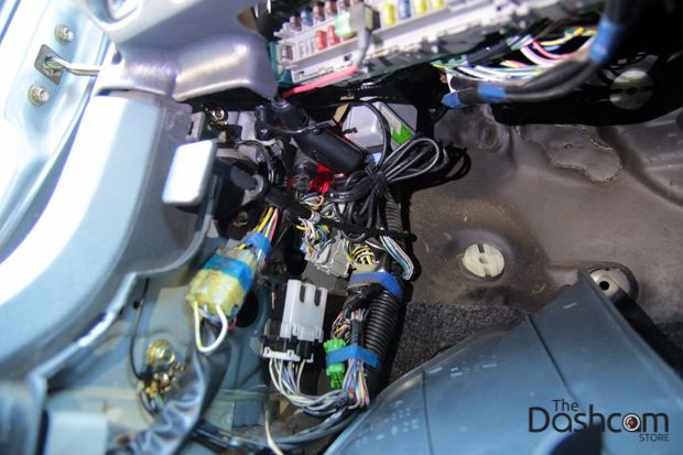 Dashcam installation how to secure wires